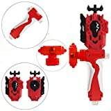 StormGyro Battling Battle String Launcher LR (Left & Right Turning) and Launcher Grip with Weight Damper Set(Red)