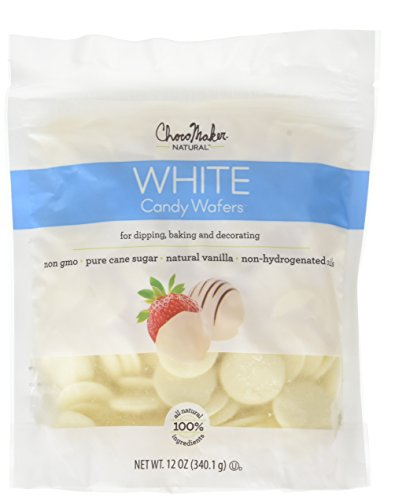 ChocoMaker Vanilla Natural Chocolate Candy Wafers 12oz Pouch ()