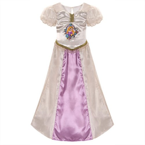 Dress Wedding Tangled Costume (Disney Store Tangled Princess Rapunzel Wedding Bride Nightgown: Size XS)