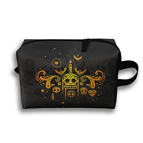 Day Of The Dead Cosmetic Bags Makeup Organizer Bag Pouch Zipper Purse Handbag Clutch Bag