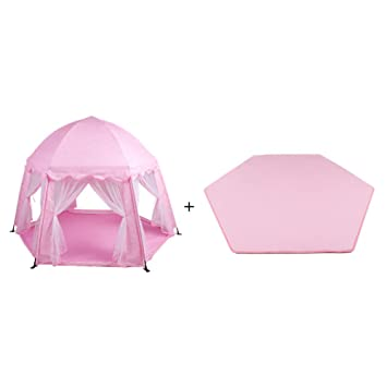 Amazon.com  Toddlers Play Tent with Mattress Baby Room Divider Playpen Children Castle Anti-Mosquito Mesh Game House Hexagon Toy House (Color  Pink)  ...  sc 1 st  Amazon.com & Amazon.com : Toddlers Play Tent with Mattress Baby Room Divider ...