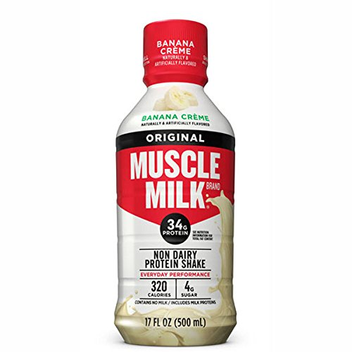 CytoSport Muscle Milk Ready-to-Drink Shake, Banana Creme, 17 Ounce Cartons (Pack of 12)