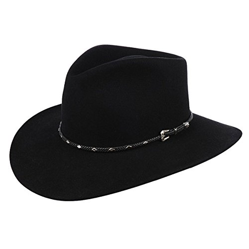 Stetson Diamond Jim Gun Club Hat 7 5/8 Black by Stetson