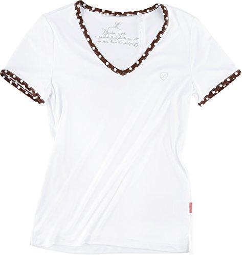 Limited Sports T-Shirt Silvy Dots Women - Ropa, color blanco / marrón, talla 48 blanco / marrón