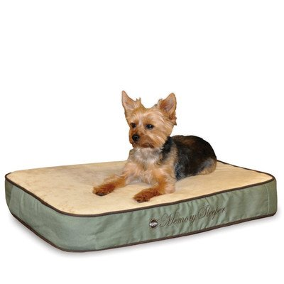 Memory Sleeper Dog Pillow Size: Small (26'' L x 18'' W), Color: Sage by K&H Manufacturing (Image #1)