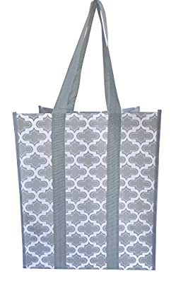 Reusable Grocery Shopping Bags - Premium Heavy Duty Wipe-clean Totes