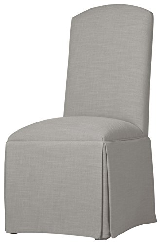(Sloane Whitney Hadley Skirted Parsons Chair, Pewter)