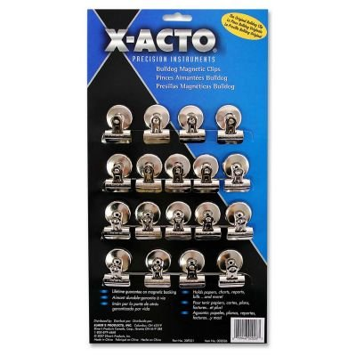 (X-ACTO 2026 Bulldog Magnetic Clips, Steel, 1-1/4