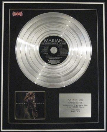 Mariah Carey di Ltd CD PLATINO DISC di EMANCIPATION der Mimi Century Music Awards