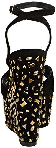 Carvela Genie - sandalias con cuña de sintético mujer negro - Black (Blk/Other)