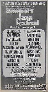 Dizzy Gillespie Roland Kirk '70 Concert Poster Newspaper Ad by ConcertPosterArt