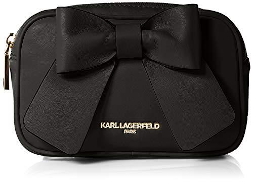 Karl Lagerfeld Paris Womens Kris Bow Belt Bag, Black