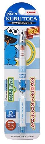 Sesame Street Cookie Monster Uni KURUTOGA Limited standard model Mechanical sharp pencil 0.5mm Japan import MITSUBISHI PENCIL Blue
