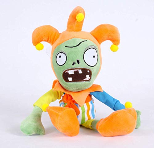 TA BEST Plants Vs. Zombies Plush Toy- Clown Zombie Plush Toy Doll Stuffed Soft Game Doll Funny Gift, 11.8 inch