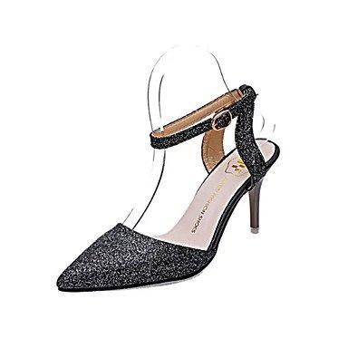 Noir Talon ggx black Chaussures LvYuan Habillé Nubuck Eté Argent Arrière Aiguille Femme 5 Boucle à Bride Arrière Cuir 5 A à A 9 Talons Marche Bride Rose7 HqxwTxfFd