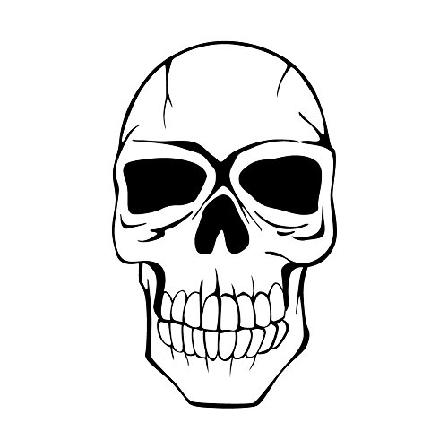 Costume Punker (Rock N' Roll Punker Skull Face - 5 Inch Full Color Decal for Macbook, Laptop or other)