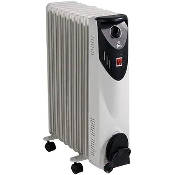 FM Calefacción BR-20 Negro, Gris 2000W Radiador - Calefactor (Radiador, Piso, Negro, Gris, Giratorio, 2000 W, 800 W): Amazon.es: Hogar