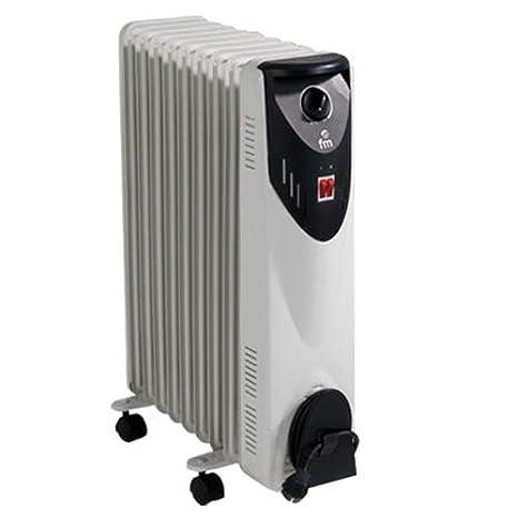 FM Calefacción BR-20 Negro, Gris 2000W Radiador - Calefactor (Radiador, Piso, Negro, Gris, Giratorio, 2000 W, 800 W)