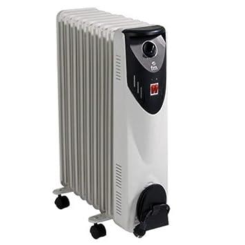 FM Calefacción BR-20 Negro, Gris 2000W Radiador - Calefactor (Radiador, Piso