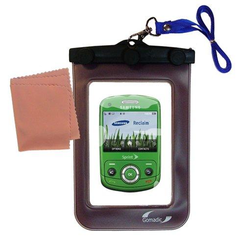 Gomadicアウトドア防水携帯ケースSuitable for the Samsung Reclaim sph-m560に使用Underwater – keepsデバイスClean and Dry   B0049KSDL0