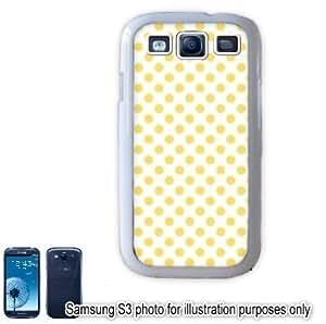 Yellow Mini Polka Dots Pattern Samsung Galaxy S3 i9300 Case Cover Skin White
