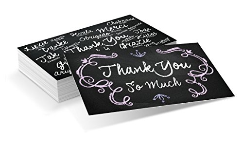 Chalkboard Colored Thank You Business Cards (3.5