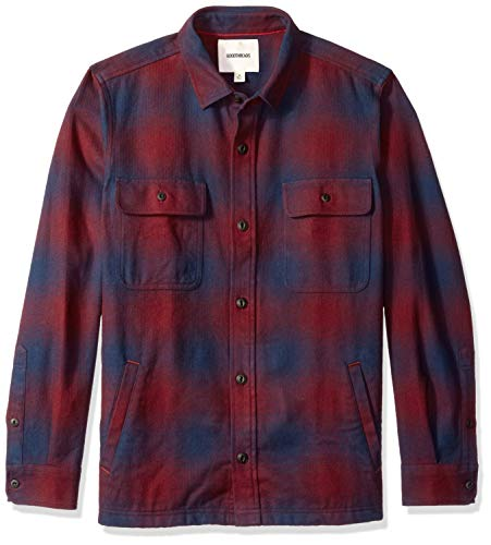 Goodthreads Men's Heavyweight Flannel Shirt Jacket, for sale  Delivered anywhere in USA