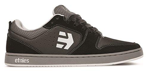 Etnies Men's Verano Skateboard Shoe, Black/Grey, 10 M US