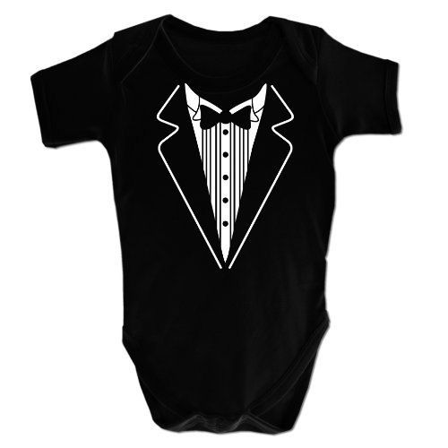 Baby Boy's Baby Grow Tuxedo BoyClothing 12-18 Months Black 19068