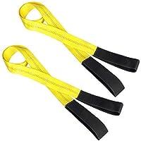 Lift Sling Straps, JCHL 6.5'X2″ Heavy Duty Flat Eye Lift Sling 13,000 lbs Capacity Lifting Straps Nylon Tree Saver Recovery Strap Web Sling Winch Strap 2-Pack