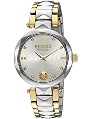 Versus by Versace Womens COVENT GARDEN Quartz Stainless Steel Casual Watch, Color:Two Tone (Model: SCD100016)