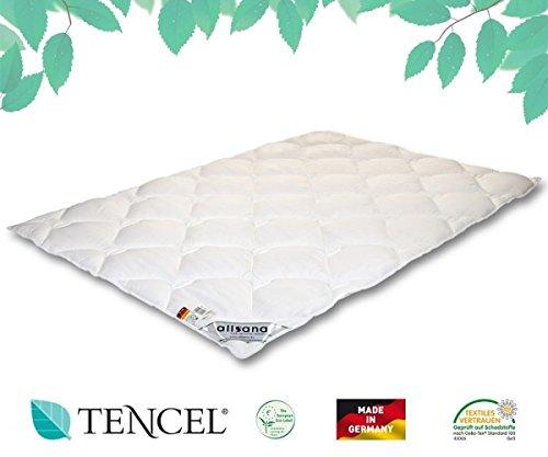 allsana TENCEL® Klimafaser Steppbett 155x220 cm, Lyocell Ganzjahresdecke für Allergiker, waschbar bei 60°C, Tencel Bettdecke bei Allergie