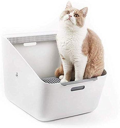 QWER Cajas de arena para gatos inodoro for animales domésticos del gato caja de arena de auto-limpieza automática Mascotas cerca de la litera Pan for gatos grandes for los animales, conejos, perritos,: