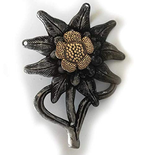 (Reproduction WWII WW2 German Edelweiss Flower Badge M43 Cap Insignia Medal)