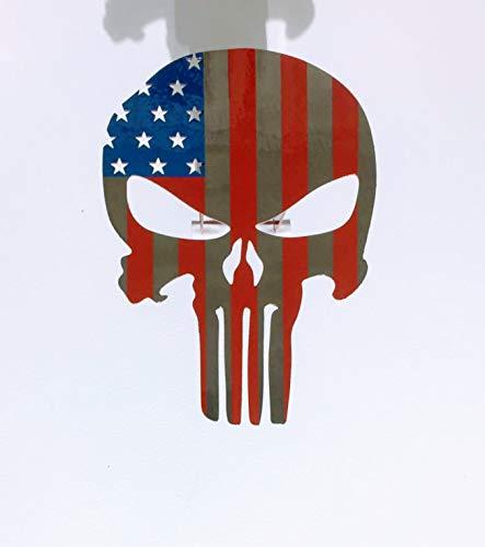 Fox MetalFab Powder Coated Steel Punisher Trailer Hitch Cover/Insert (American Flag)