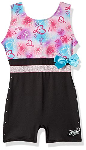 Jojo Siwa By Danskin Girls' Big Rainbow Bows Biketard,