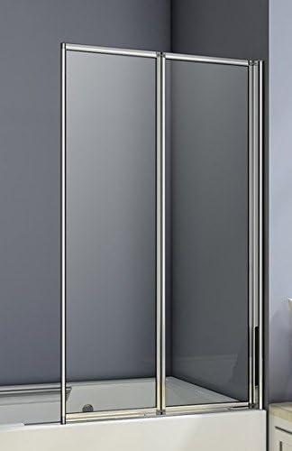Aica 900 mm mampara de baño Plegable de 2 Panel de Cristal, Metal ...