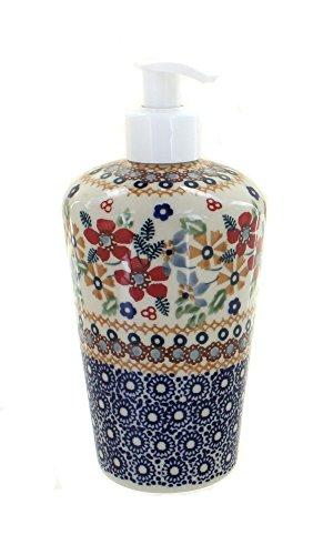 polish-pottery-red-daisy-soap-dispenser