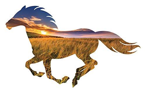 Horse Metal Art - Golden Sun Running Horse