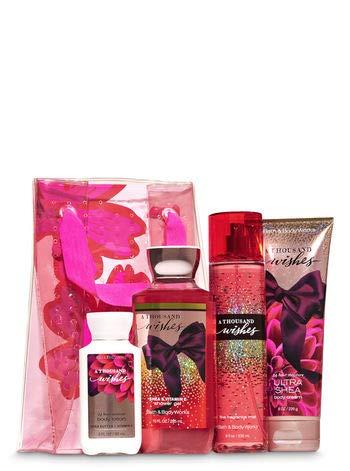 Bath & Body Works A Thousand Wishes Flower Power Gift Set | Shower Gel, Fragrance Mist, Body Cream & Travel Body Lotion