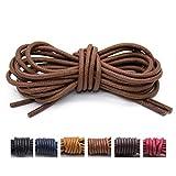 Best Boot Laces - Handshop Waxed Boot Shoelaces, Cotton Round Shoe Laces Review