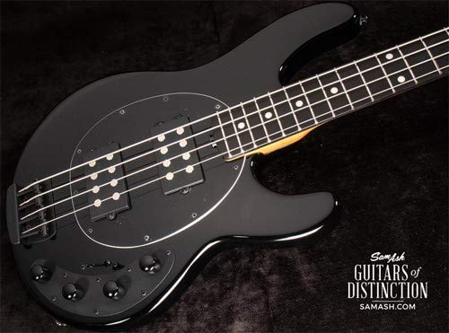 Ernie Ball Music Man Ernie Ball Music Man StingRay Special HH Electric Bass Guitar Jet Black (SN:F83870)
