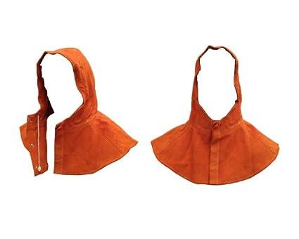 Safewel - Capucha protectora para soldador (piel)