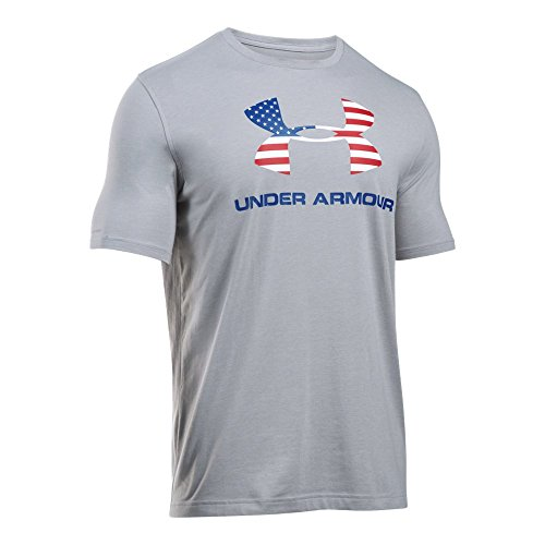 Under Armour Men's Sportstyle Logo T-Shirt, True Gray Heather/Royal, XX-Large ()