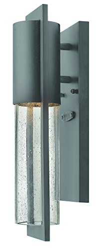 Hinkley 1326HE-GU24 Transitional One Light Wall Mount from Shelter collection in Bronze/Darkfinish,
