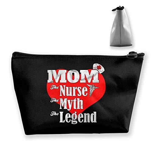 Jonathan Sidney Mom Nurse Myth Legend Cosmetic Makeup Bag Handy Purse Makeup Pouch Clutch Organizer Travel Storage -