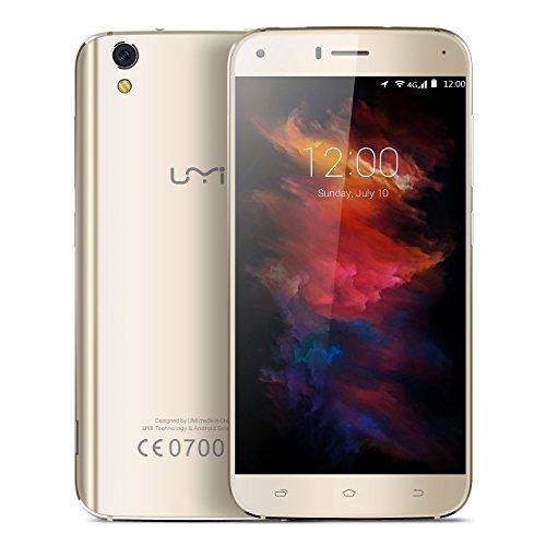 UMI Diamond Smartphone (5.0 Zoll Display, 4G Dual SIM, 3GB RAM 16GB ROM, Touch-Display, Artistry dual gebogene Stil, Android 6.0)-Grau/Gold