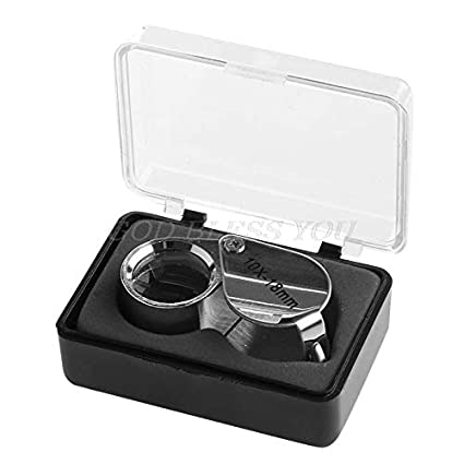 Gold JSP Professional 10X Magnifying Jewelers Loupe with 18mm Triplet Lens