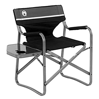 Coleman Camping Chair with Side Table | Aluminum Outdoor Chair with Flip Up Table : Camping Chairs : Sports & Outdoors