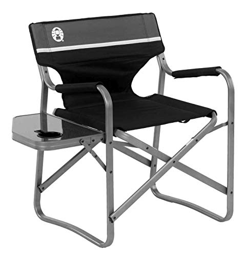 Coleman Camping Chair with Side Table | Aluminum Outdoor Chair with Flip Up Table (Chairs Outdoor Directors)